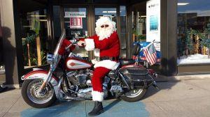 Santa Jack Cole In Front Of Radio Shack