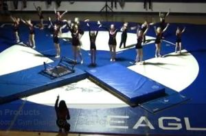 Star Spangled Gymnastics Team performing at O'Neill High School Wrestling Meet.