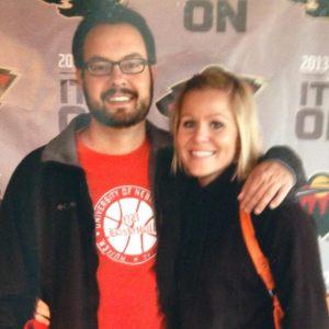 Newly engaged Theresa Conradt & Joe Haack thanks to Coach Miles