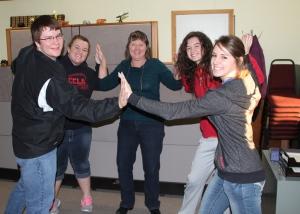 Chambers FFA & FCCLA Members Giving KBRX's Shirley Cobb a High 5!