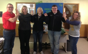 O'Neill FFA & KBRX's Scott Poese celebrating High 5 Friday!