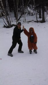 Scott Poese and Sasquatch aka Kyler Dean at Terry Peak!!